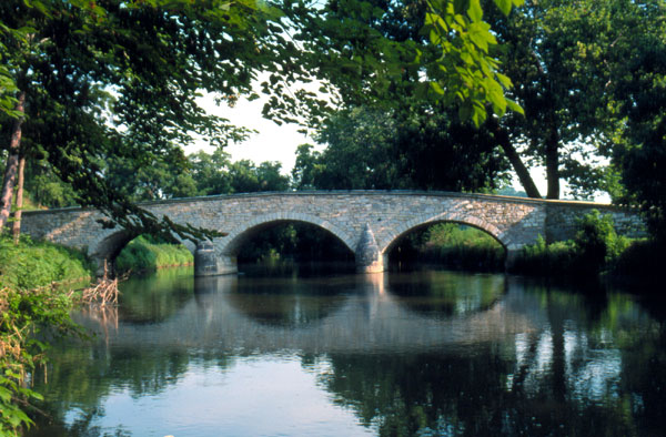 Local stone bridge, sample of scenery on African-American History driving tour of Washington County, Maryland