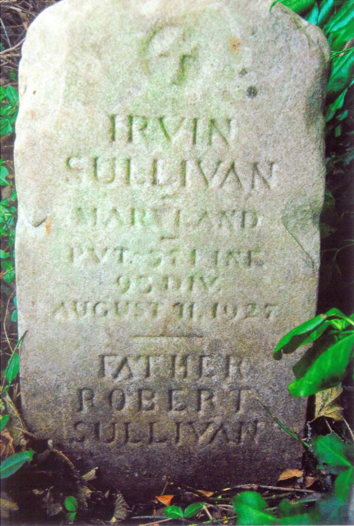 Irvin Sullivan veteran gravestone, Halfway African-American Cemetery, MD