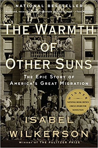 Cover of The Warmth of Other Suns by Isabel Wilkerson, a book of African-American history about the Great Migration
