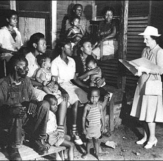 African-American family with white Census-taker near Nashville, TN, in 1930 or later.